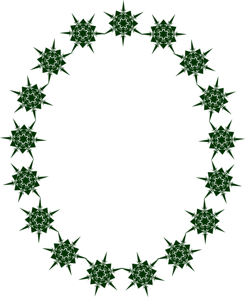 958x1162 Black Star Border Clip Art