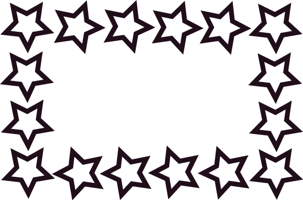 600x397 Image Of Star Border Clipart