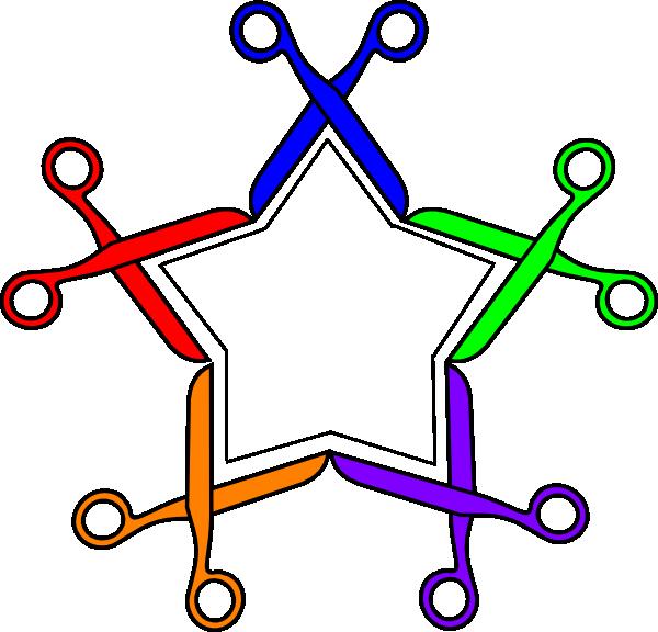 600x576 Scissor Star Clip Art