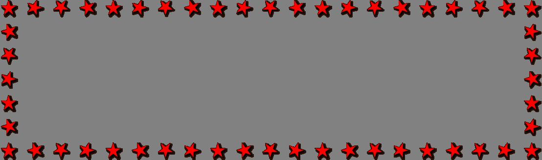 1108x328 Star Border Clipart