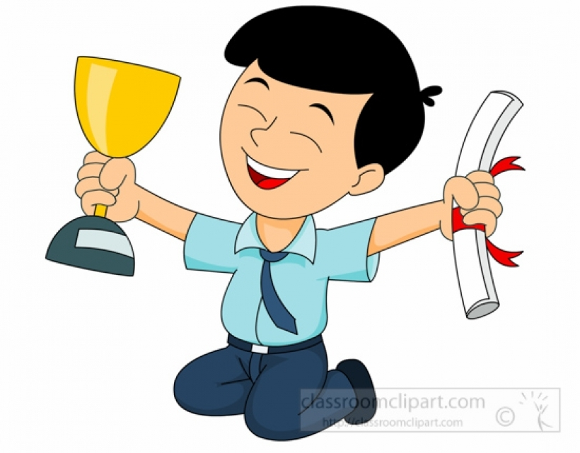 820x641 Boy With Trophy Clipart For Teachers Search Results