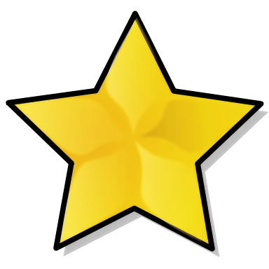 384x384 Free Gold Star Clipart