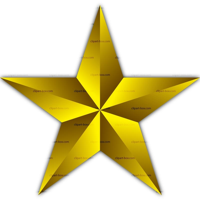 800x800 Free Clip Art Gold Star