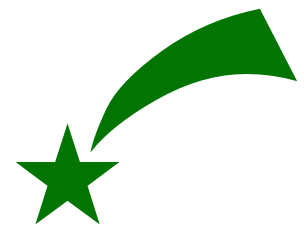 304x242 Free Green Star Clipart