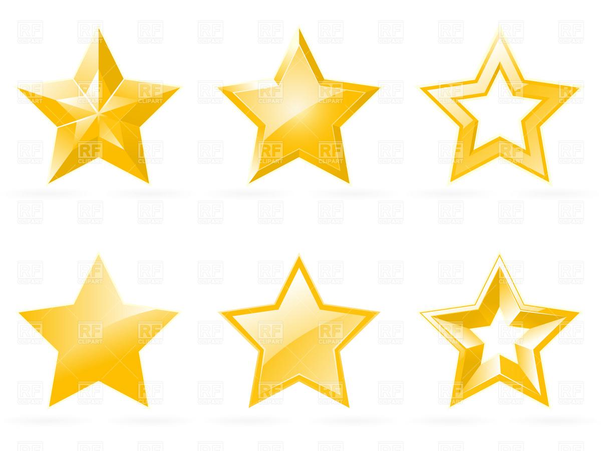1200x900 Set Of Shiny Star Icons Royalty Free Vector Clip Art Image