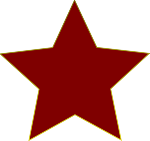 300x282 Red Star Clipart