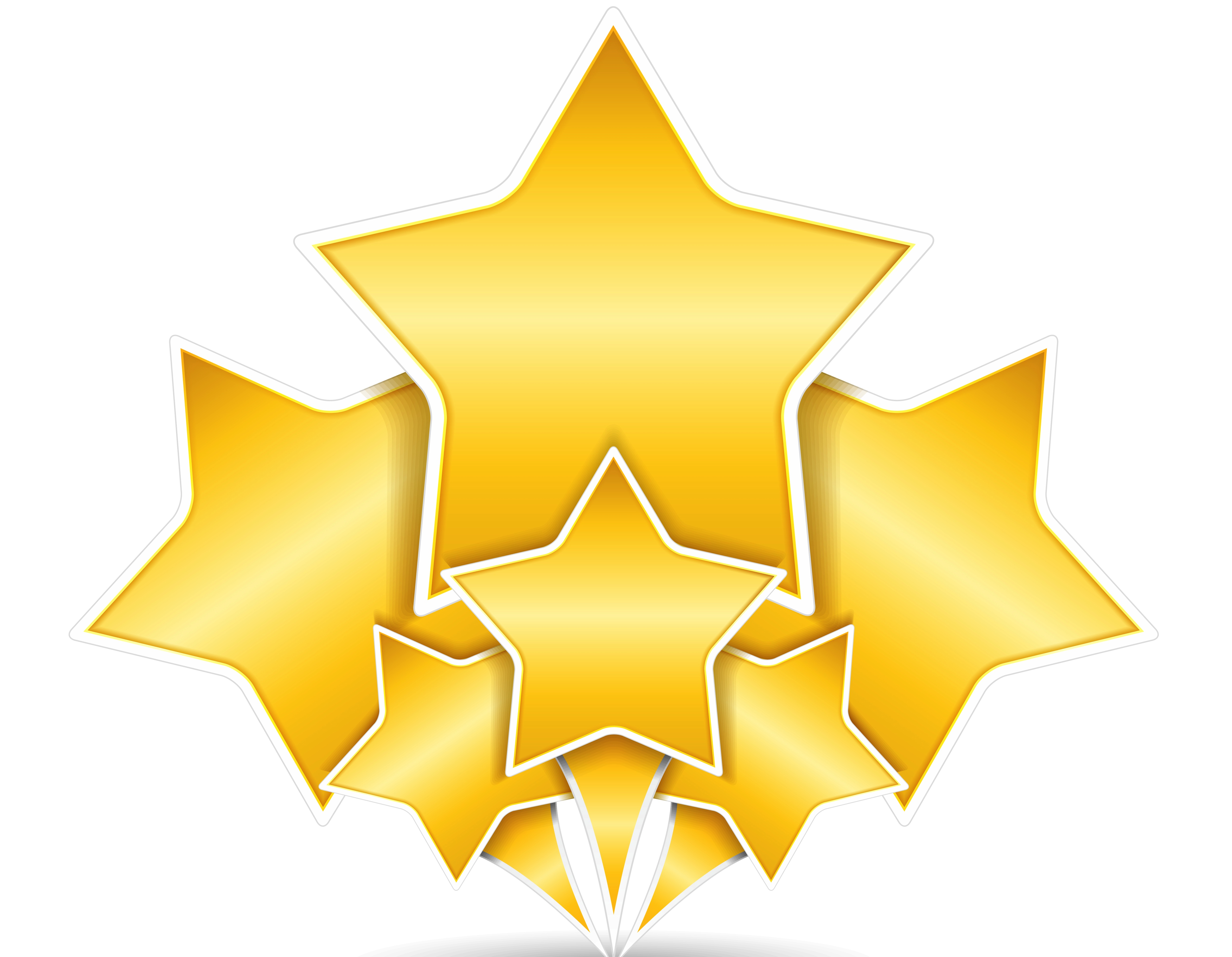 4832x3754 Free Gold Star Clipart Pictures