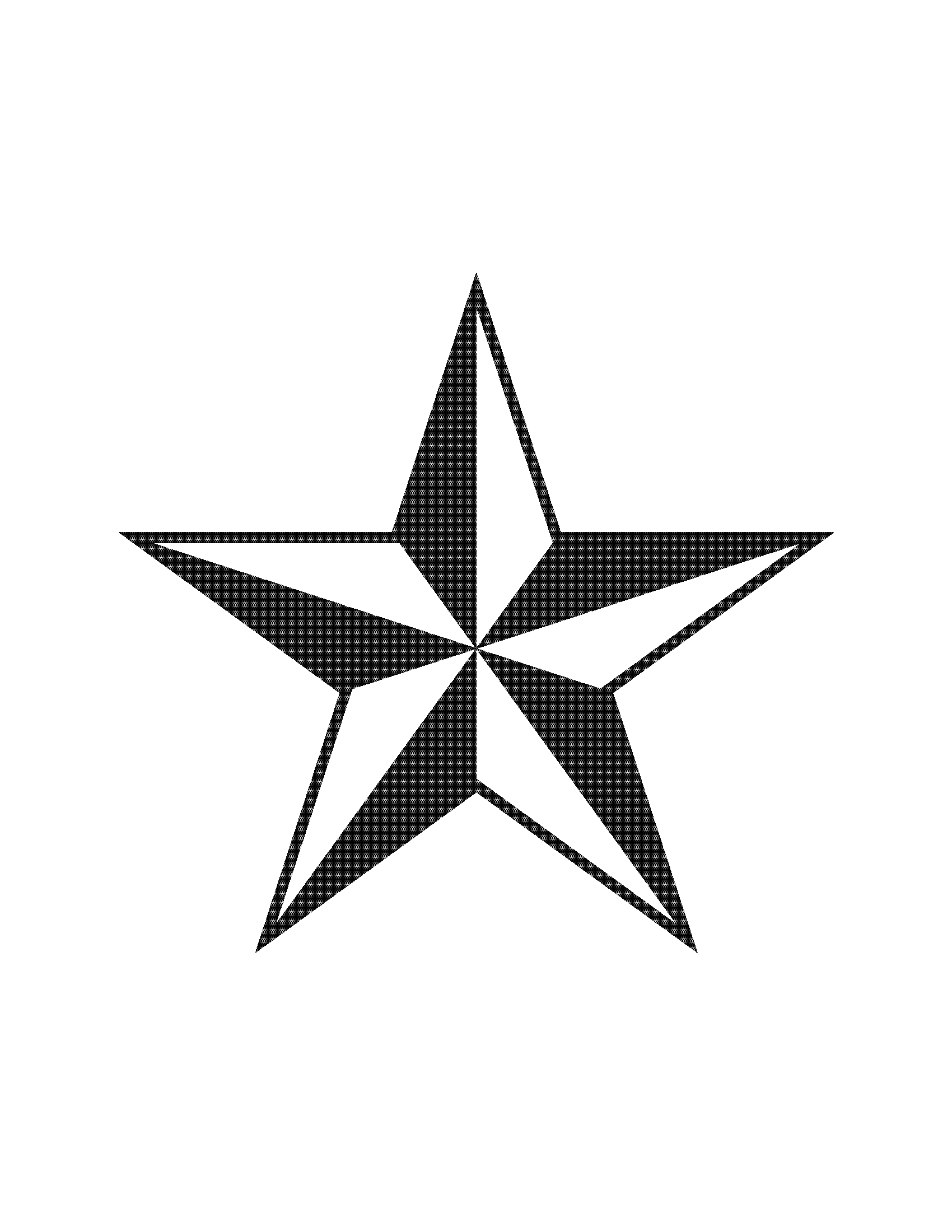 1700x2200 Country Star Clipart