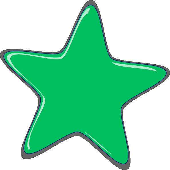 594x595 Free Green Star Clipart