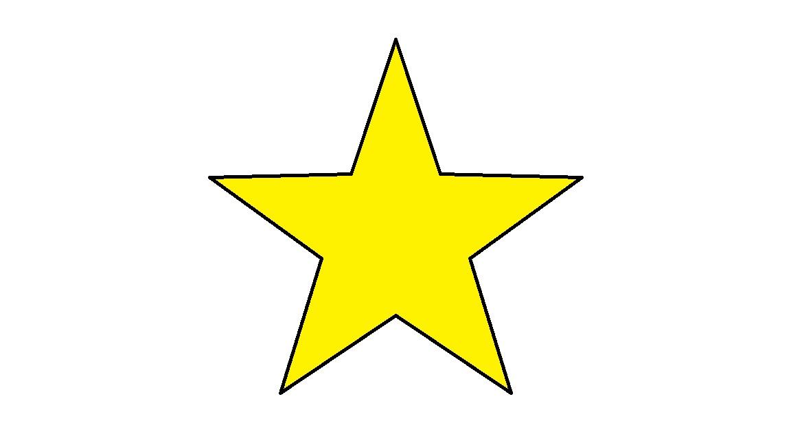 1152x648 Yellow Star Clip Art