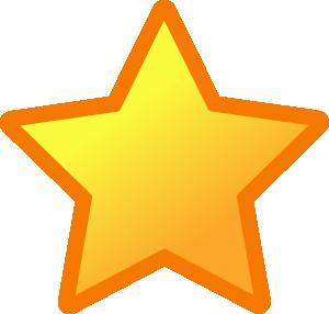 300x286 Yellow Star Clip Art