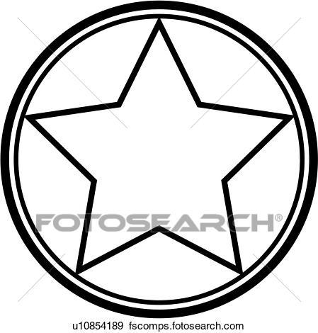 449x470 Clip Art Of , Tile, Circle, Star, U10854189