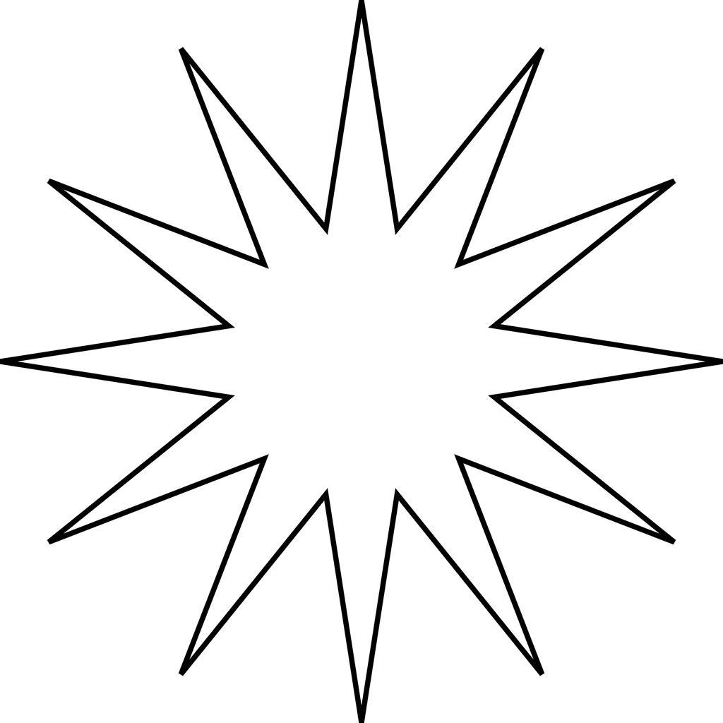 1024x1024 Moravian Star Clip Art