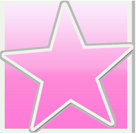 462x454 Pink Star Clipart