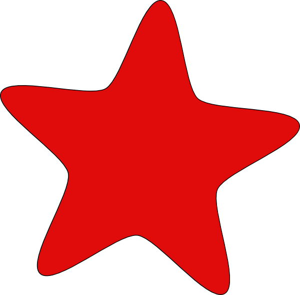 600x589 Red Star Clip Art