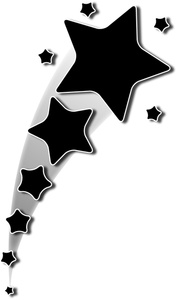 177x300 Shooting Star Clip Art Black And White Clipart Panda