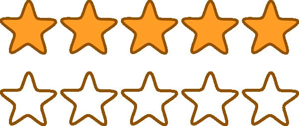 600x254 Stars Clip Art