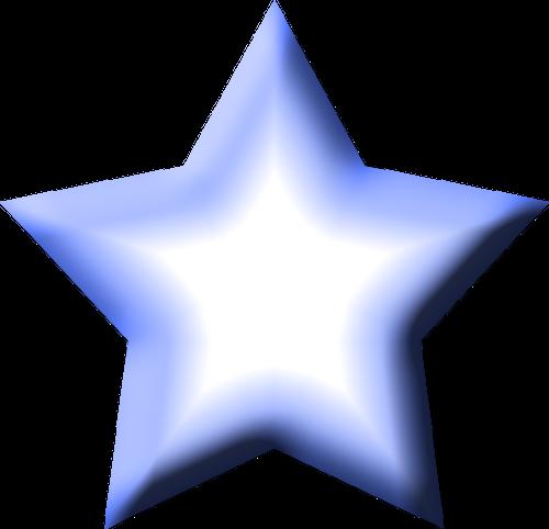 500x482 Stars Clipart Blue Star