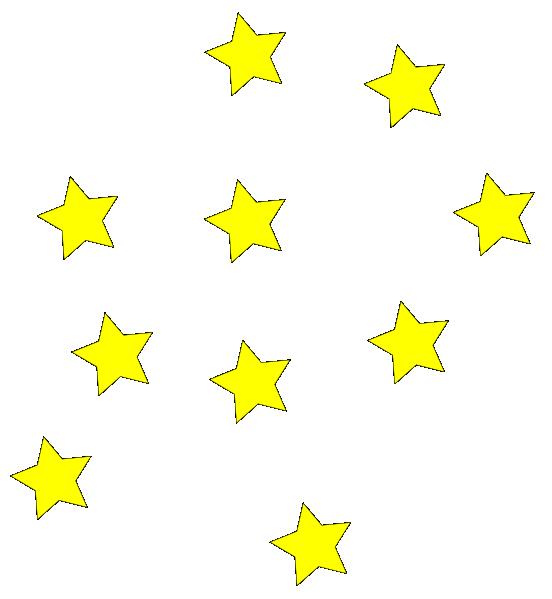 552x599 Yellow Stars Clip Art