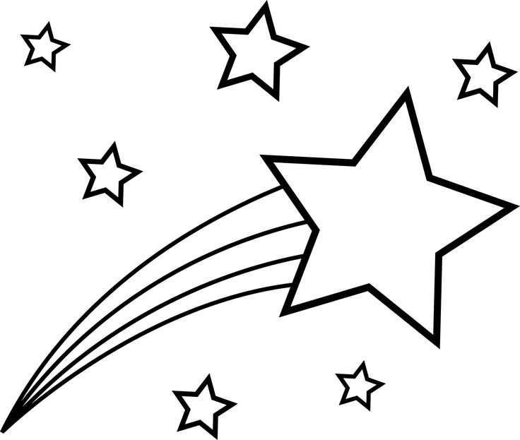 736x623 Shooting Star Clip Art Outline Clipart Panda