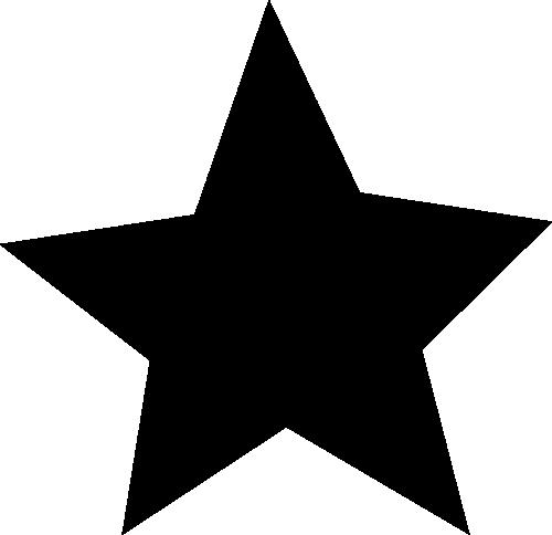 500x484 Black Star Clip Art Black Star Image