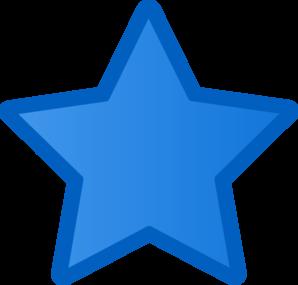 298x285 Blue Star Clipart
