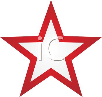 350x333 Picture Of White Star In The Center Of A Red Star In A Vector Clip