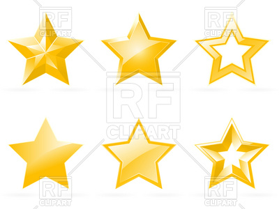 400x300 Set Of Shiny Star Icons Royalty Free Vector Clip Art Image