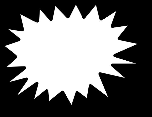 600x465 Star Callout Clip Art Free Vector 4vector
