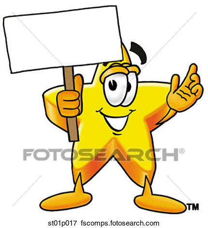 430x470 Clip Art Of Star With A Sign St01p017