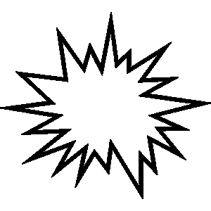 300x300 Explosion Star Line Clipart Free Clipart Images
