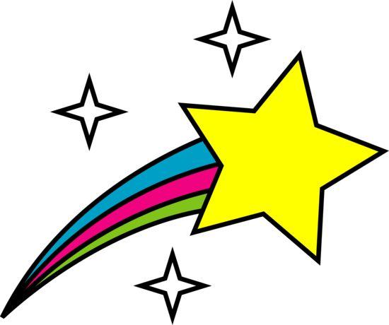 550x460 Falling Stars Clipart Bright Star