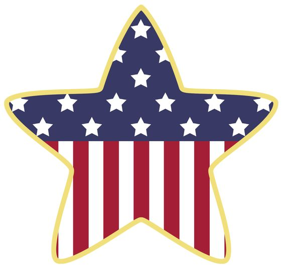 564x535 Patriotic Star Clipart