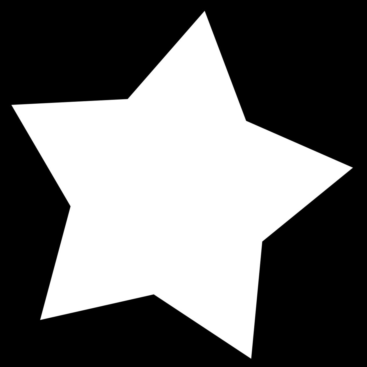 1264x1264 White Star Clipart