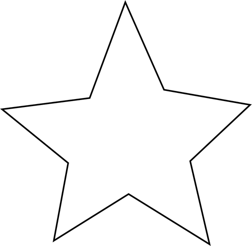 500x487 Star Clipart Black And White