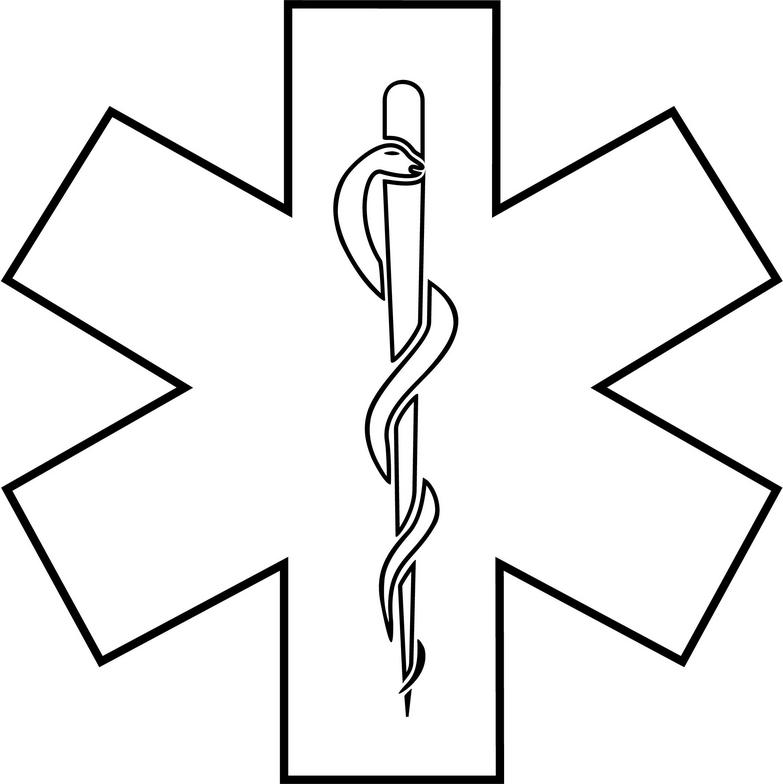 783x784 Star Of Life Clipart