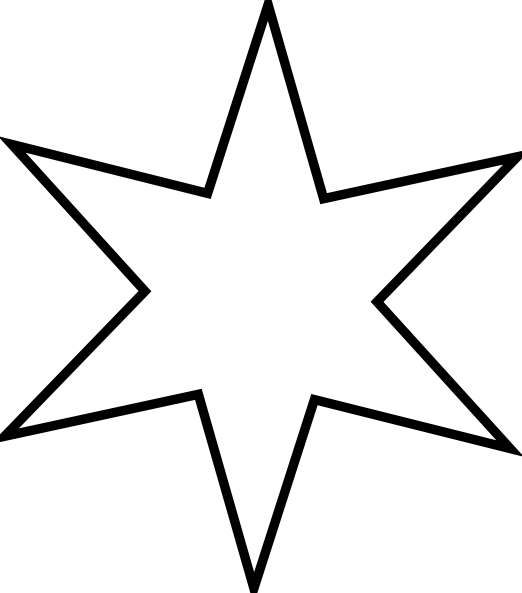 522x593 Star Outline Outline Star Clip Art Free Vector 4vector