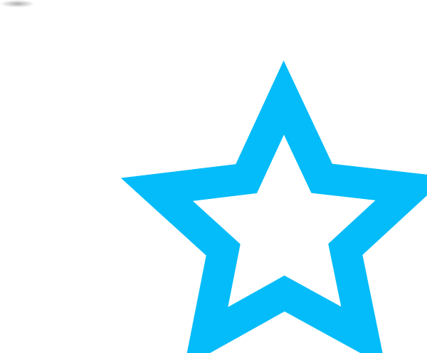 600x495 Blue Star Outline Png, Svg Clip Art For Web