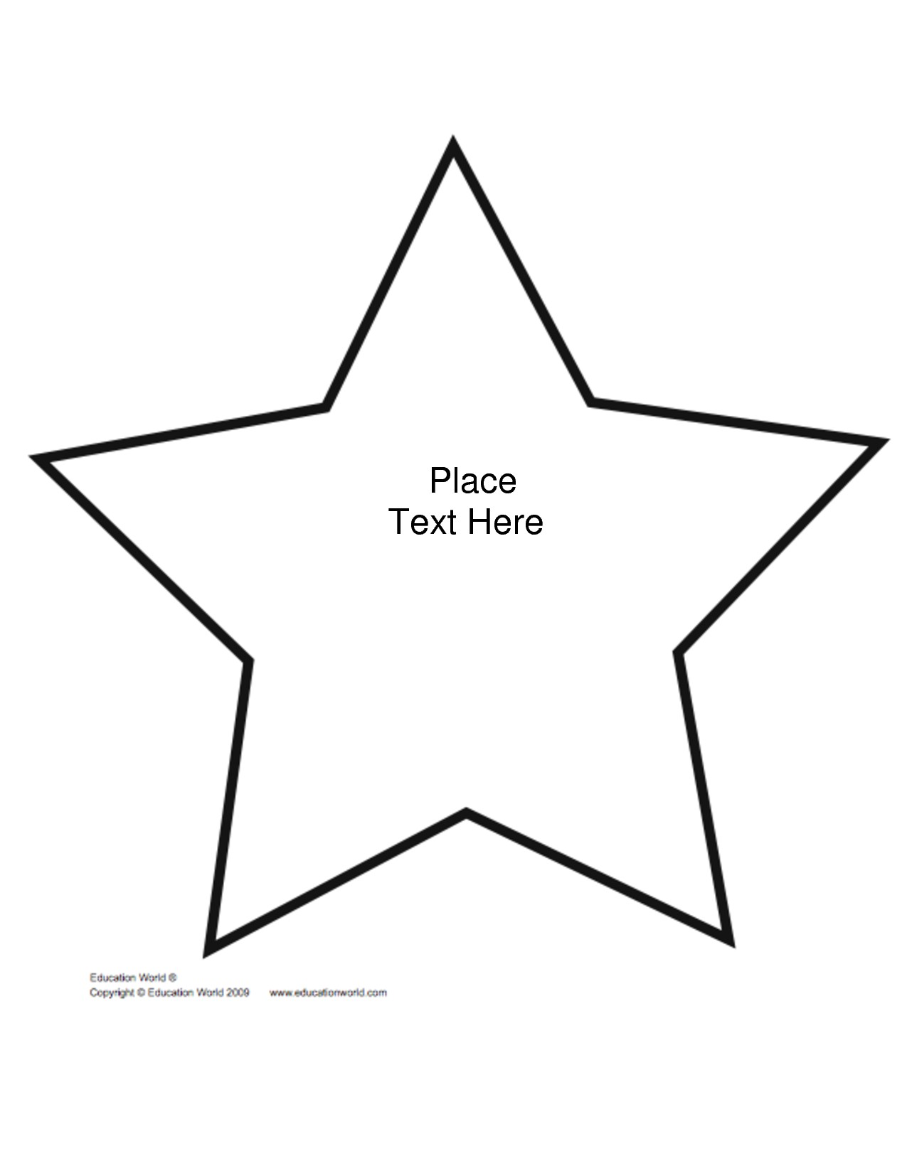 Star Outline Printable | Free download on ClipArtMag