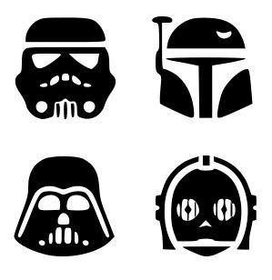 299x308 Svg Disney Star Wars Characters Star Wars Silhouettes Star
