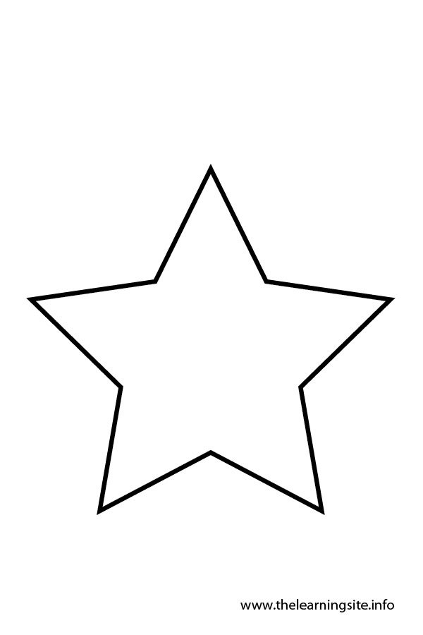 photograph relating to Star Pattern Printable referred to as Star Define Printable Cost-free down load easiest Star Define