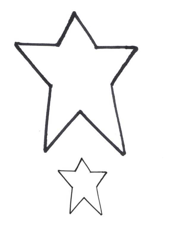 It's just a graphic of Soft Star Outline Printable