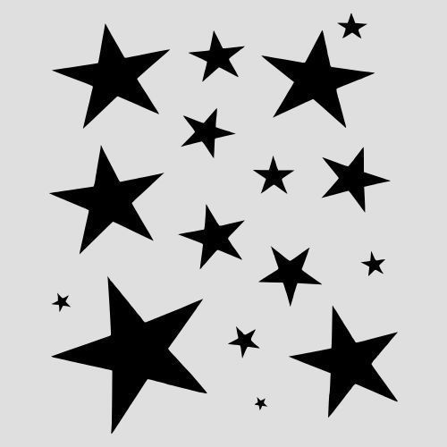 star outline printable