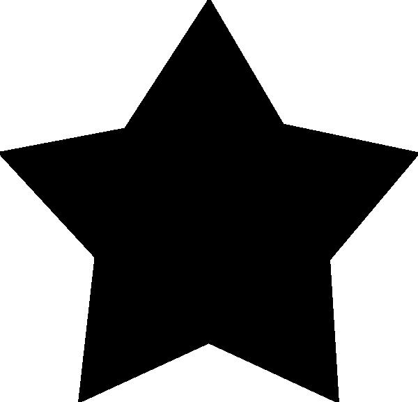 600x577 Free Black Stars Clipart Image