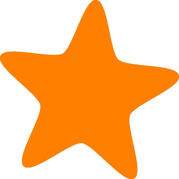 594x595 Orange Star Clip Art