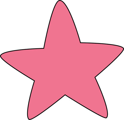 500x487 Pink Rounded Star Clip Art