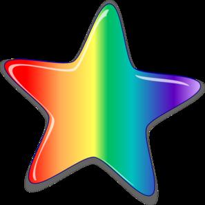 297x298 Rainbow Star Clip Art