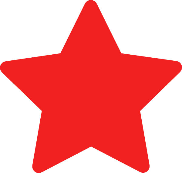 600x573 Red Star Clip Art