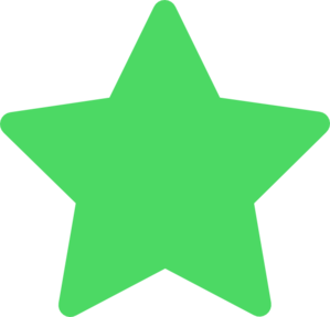 299x288 Star Green Favorite Clip Art