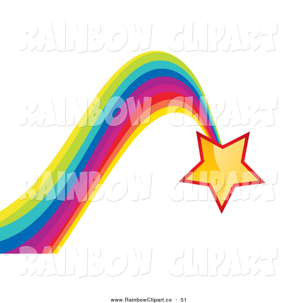 1024x1044 Vector Clip Art Of A Shiny Yellow Star Leaving A Bouncing Rainbow
